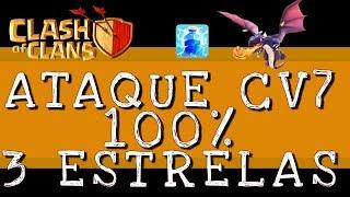 Clash of Clans | Ataque com Dragão CV 7 Guerra [100%][FULL HD]