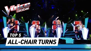 INSTANT ALL-CHAIR TURNS in The Voice Kids