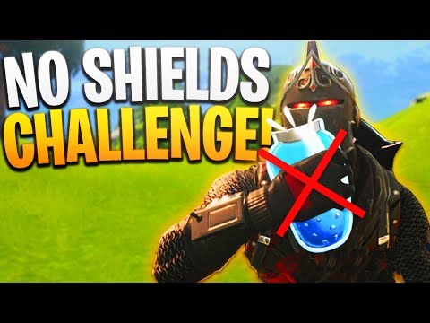 NO Shields Challenge! - PS4 Fortnite NO Shields/Mini-Shields/Slurp/Chug Jug!