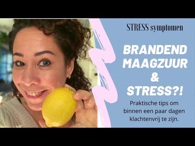 Wat Te Doen Bij Brandend Maagzuur Bij Stress en BURN-OUT?!