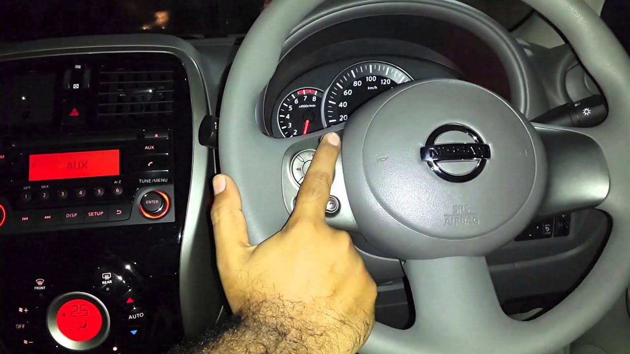 Nissan Micra XV CVT - Controls on Steering - YouTube