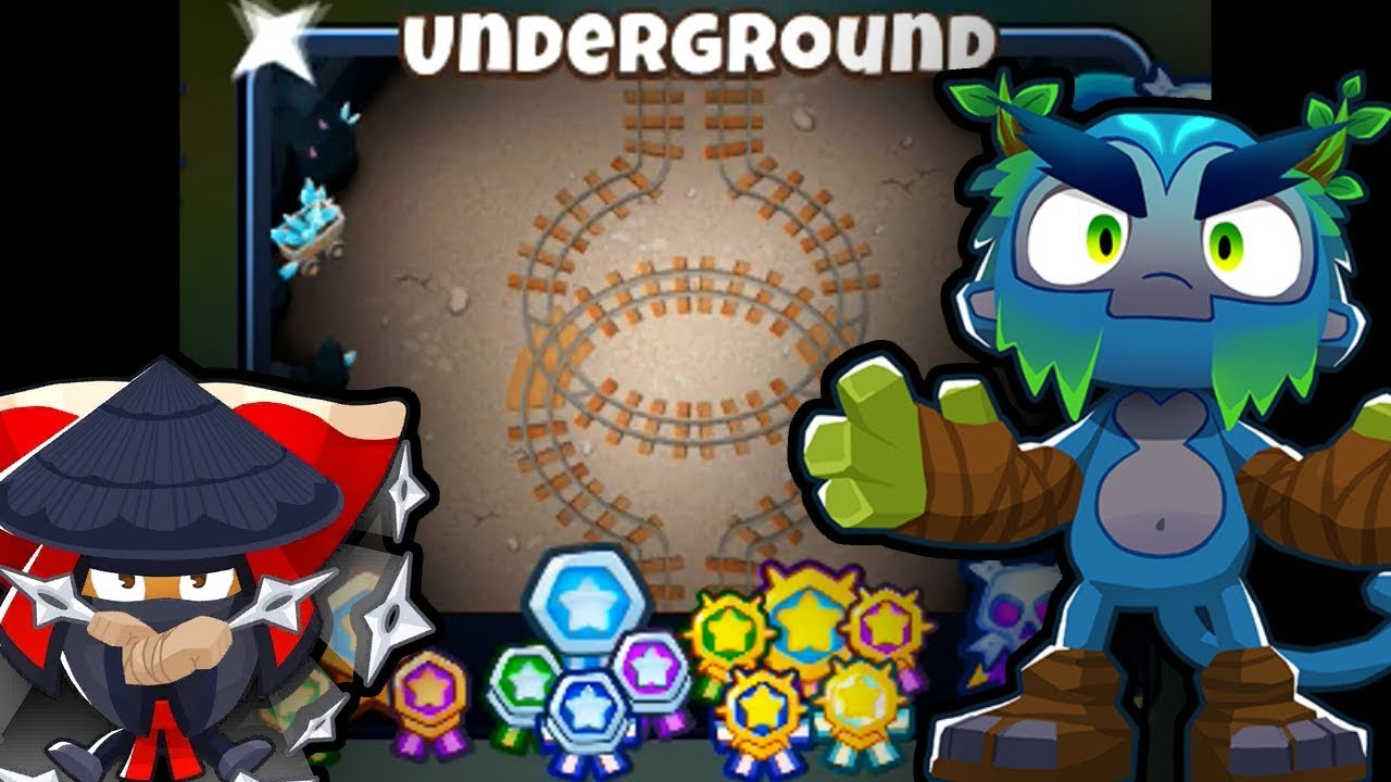 BTD6 - Underground CHIMPS Black Border (Easy first try) - (Outdated) by  Rohan S A