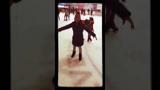 I went ice skating (with my  mom middle schoolers