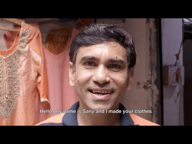 Who made your clothes? Sanjay, by Radha's Tribe