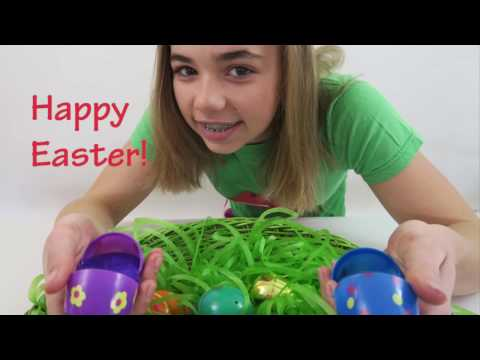 CLEAR SLIME EASTER EGGS | Flippin' Katie