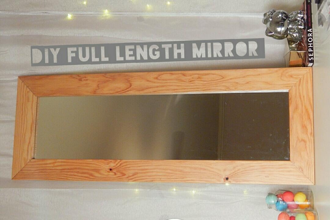 DIY FRAMED FULL LENGTH MIRROR Under $20 - YouTube