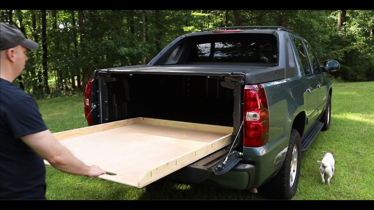 The Simplest Diy Truck Bed Slide For Chevy Avalanche Youtube