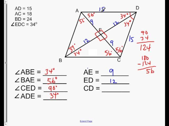 Properties of Rhombus (with videos, worksheets, games & activities)