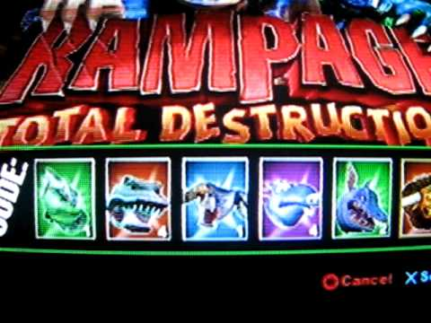 Rampage Total Destruction Cheats On Ps2 Youtube