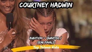 🌟 Courtney Hadwin 🌟 AGT 2018 Audition , Quarter & Semi Finals