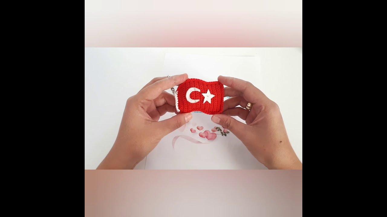 amigurumi Türk bayrağı yapılışı
