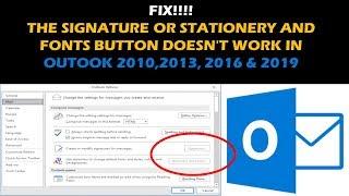 [SOLVED] Outlook Signature n๐t responding