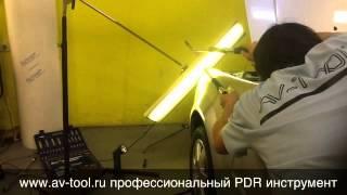 Уроки PDR технологии (Работа с бликами)Обучение удалению вмятин без покраски (Работа с бликами)