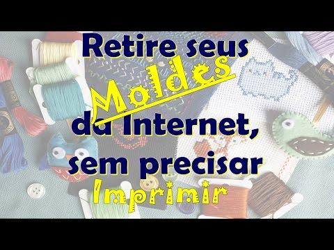 #Dica# Como retirar molde de Artesanato da Internet sem Imprimir.