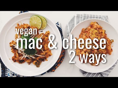 vegan-mac-&-cheese-2-ways-(thai-red-curry-&-pizza)-|-hot-for-food