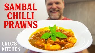 How to Cook Sambal Udang - Chili Shrimp Recipe - Greg's Kitchen
