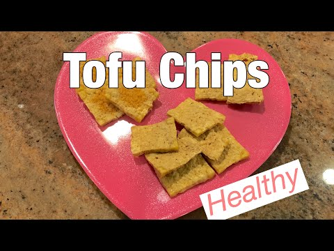 Spicy Tofu Chips with Roasted Chickpeas and Veg