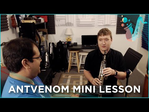 MINI LESSON - How to play the Sax (Ft. AntVenom)