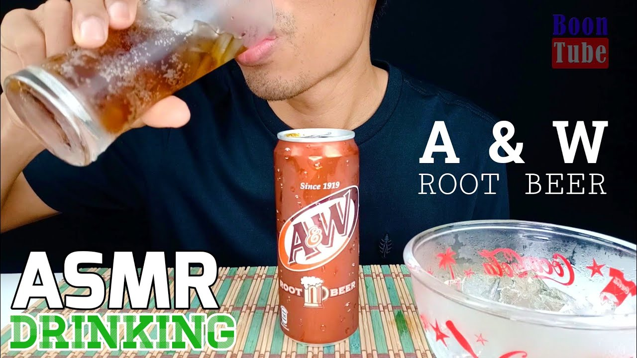 ASMR Drinking ~A&W Root Beer ~ EXTREME FIZZY & ICE EATING   EP.84 I BoonTube