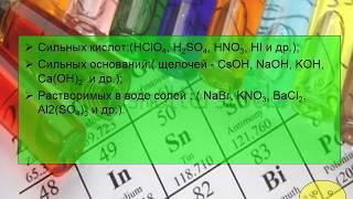 Реакции обмена в водных растворах электролитов