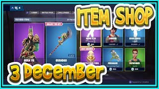 Fortnite ITEM SHOP December 3rd all new SKINS and EMOTES-Playr NINE-English Fortnite EN
