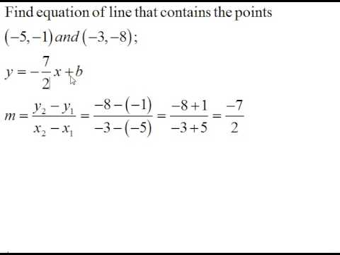 write an equation of a line given two points worksheet