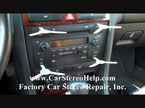 How to Audi A6 Stereo radio Bose Removal 1998 – 2004 replace repair