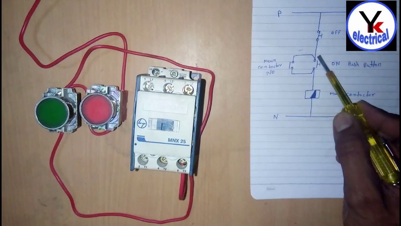 House Motor Starter Wiring , Water Pump Motor Starter | YK Electrical  YouTube