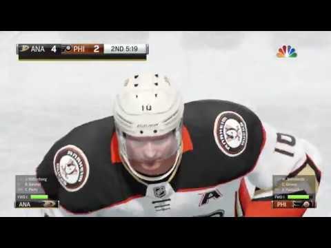 NHL 18 PS4 Season Game  Anahiem Ducks vs Philadelphia Flyers 10 24 2017