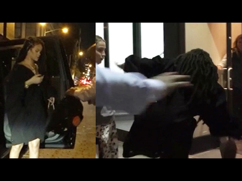 Rihanna Almost Falls On Her Face While Out And About In New York City