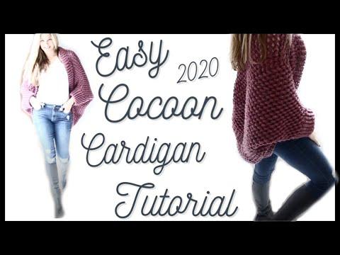 Easy Crochet  Tutorial/Pop Corn St Cocoon Cardigan 2020