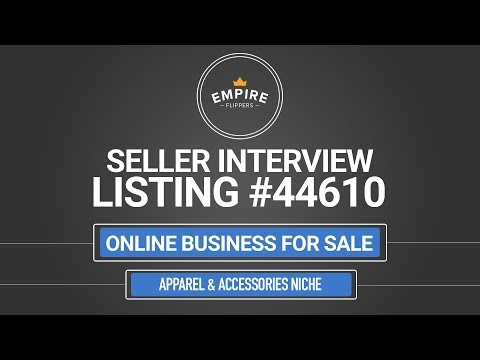 Online Business For Sale – $2.6K/month in the Apparel & Accessories Niche