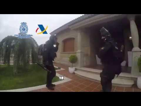 Operación Pantín contra el tráfico de drogas
