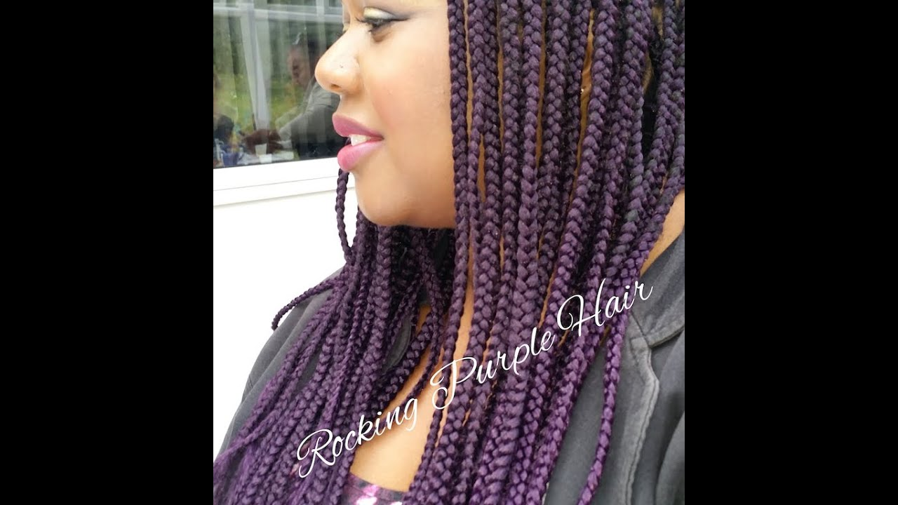 Crochet Braids Avec Xpression : Rocking Purple Braids - YouTube