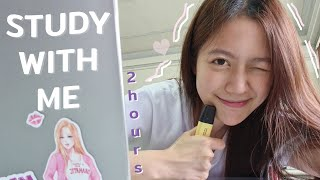 STUDY WITH ME (2 hours, with music) สู้ไปด้วยกันในวันที่ฉันหิว | laohaiFrung