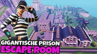 GIGANTISCHE PRISON ESCAPE ROOM - Fortnite met Don & Joost & Link & Vincent