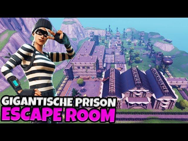 GIGANTISCHE PRISON ESCAPE ROOM - Fortnite met Don & Joost & Link & Vincent