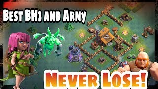Clash of clans / best builder hall 3 (BH3) / base and attack strategy