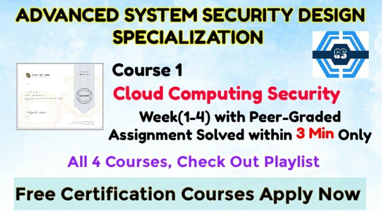 Cloud Computing Security - Coursera, all quiz  Advanced ...