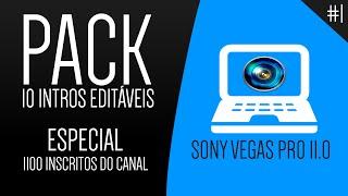 Pack 10 INTROS Editável Sony Vegas PRO 11 Especial 1.100 INSCRITOS MangPlay  #1
