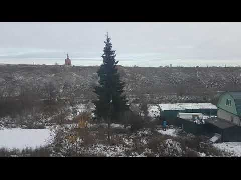 """Мценск из окна поезда 230 """"Льгов - Москва Курская"""", Орловская область"""