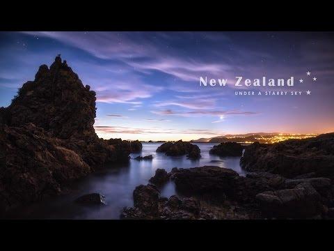 New Zealand Under A Starry Sky