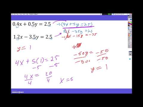 Elimination Method with Multiplication First