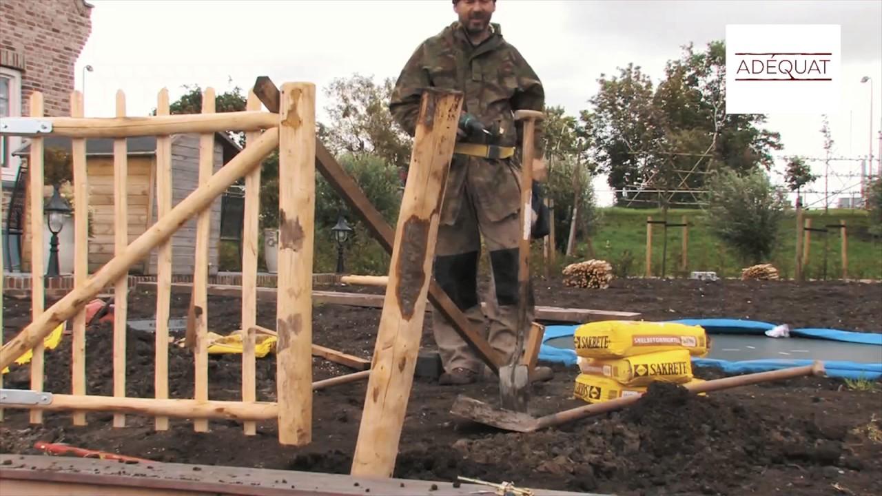 staketentor aufbauen - staketenzaun tor aufstellen - youtube