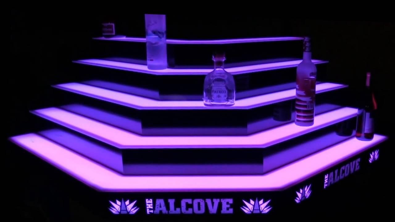 Custom led lighted corner bar shelves youtube custom led lighted corner bar shelves mozeypictures Gallery