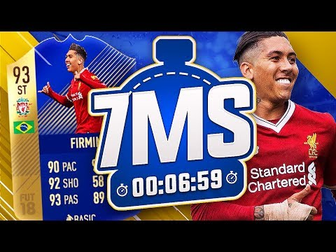 93 TOTS FIRMINO 7 MINUTE SQUAD BUILDER VS REEV - FIFA 18 ULTIMATE TEAM