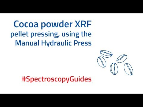 Pressing an XRF pellet of Cocoa Powder   #SpectroscopySolutions