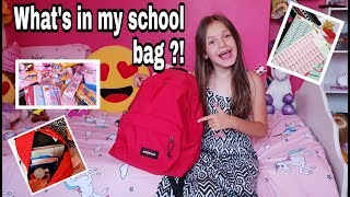 [BACK TO SCHOOL 2018] - WHAT'S IN MY SCHOOL BAG -