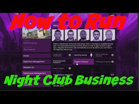 Gta 5 How To Run Night Club Business ***TIPS & TRICKS***