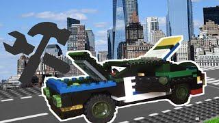 Лего самоделки #1| Как сделать Лего машинку, открываются двери капот и багажник
